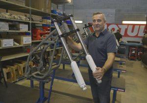 Philippe Aresten, fondateur d'Electric Motion et le créateur d'ETrek.