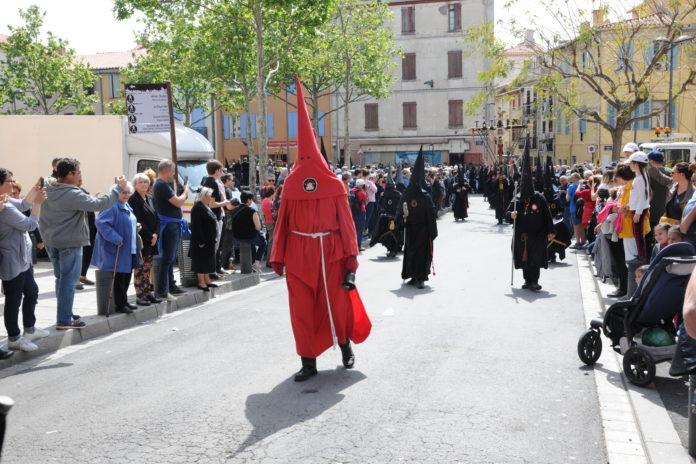 La procession de la Sanch à Perpignan en avril 2019
