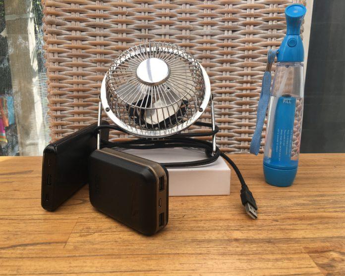 Ventilateur USB et Brumisateur pour lutter conte la canicule.