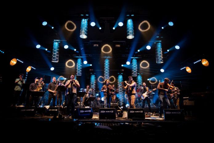 Nâtah big band (photo Nico M). Pour ouvrir la nuit armoricaine.