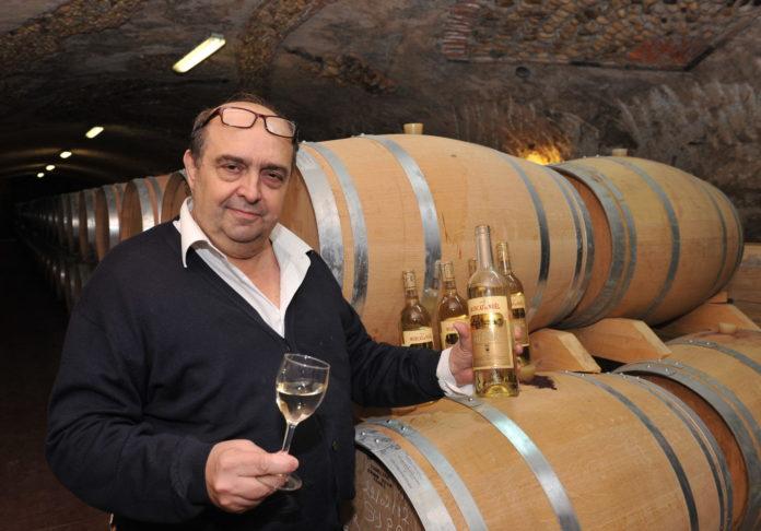 Pierre-Henri de la Fabrègue, photographié en décembre 2012 dans les caves du Domaine de Rombeau. (c) Nelson Goutorbe/Topsud News
