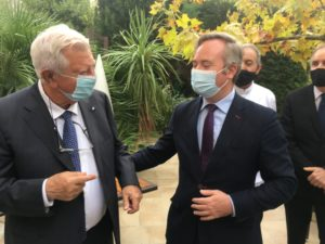 Jacques Mestre Président de l' UMIH  Occitanie avec Jean-Baptiste Lemoyne secrétaire d' Etat au tourisme (C) topsud news
